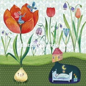Mila Marquis Postcard | Vrouw met tulpen