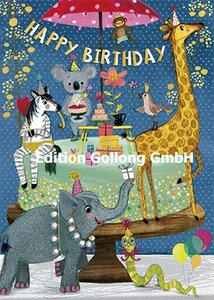 Mila Marquis Postcard   Happy Birthday (Tiere)