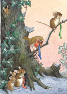 Postcard Molly Brett | Hopeful Christmas eve for woodland animals