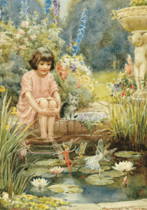 Postcard Margareth W. Tarrant | The Water-Lily Pond