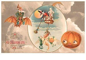 Victorian Halloween Postcard   A.N.B. - A halloween wish