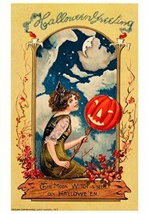 Victorian Halloween Postcard | A.N.B. - Halloween greeting