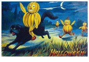 Victorian Halloween Postcard | A.N.B. - Halloween