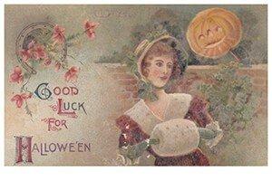 Victorian Halloween Postcard | A.N.B. - Good luck for halloween