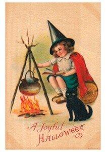 Victorian Halloween Postcard   A.N.B. - A joyful halloween