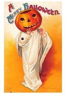 Victorian Halloween Postcard   A.N.B. - A merry halloween