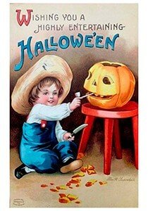 Victorian Halloween Postcard | A.N.B. - Wishing you a highly entertaining Halloween