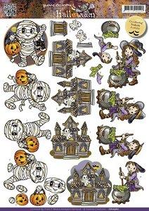 3D Cutting sheet - Yvonne Creation - Halloween - Little monsters
