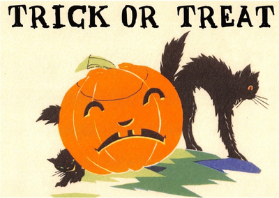 Postcard   Halloween - Trick or Treat