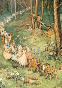 Postcard Margareth W. Tarrant | The Fairy Way