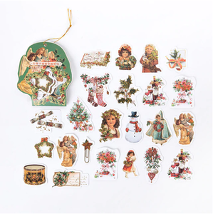 Vintage Sticker Flakes Sack | Merry Christmas