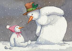 Postcard | Capuzine Mazille - Sneeuwbaby