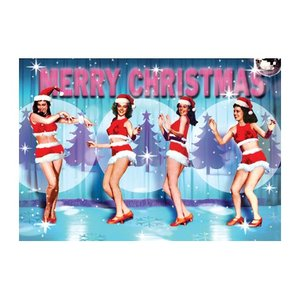 Xmas Dancing Girls Individual Postcard by Max Hernn
