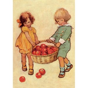 Postcard | Collecting Apples