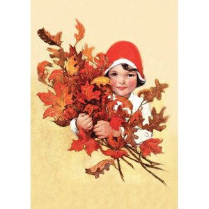 Postcard   Gathering Leaves