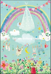 Mila Marquis Double Card | Baby with Rainbow