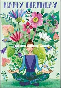 Mila Marquis Double Card | Happy Birthday (Yoga)