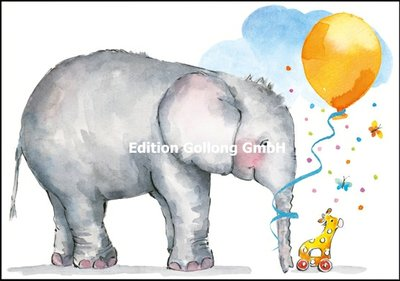 Carola Pabst Double Card | Baby (Elephant)