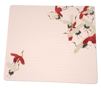 Notebook Desk Planner | Woman haori with Red and White Cranes