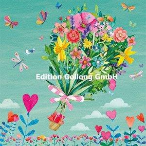 Mila Marquis Postcard | Spring bouquet