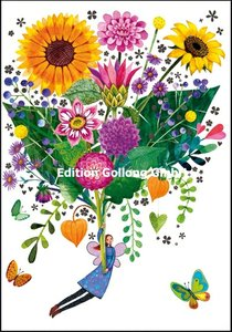 Mila Marquis Double Card | Bouquet of sunflowers