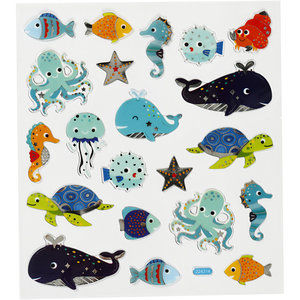 Seal Sticker with Silver Foil | Sea Animals