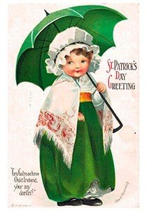 Victorian Postcard | A.N.B. - St. Patrick's Day Greeting