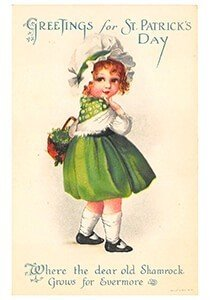 Victorian Postcard | A.N.B. - St. Patrick's Day Greetings for St. Patrick's day