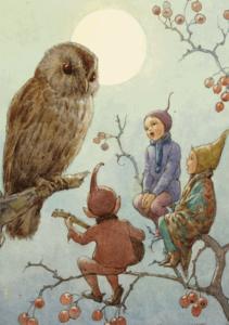 Postcard Margareth W. Tarrant | A Carol for Brown Owl