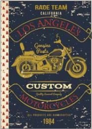 Illustrated little notebook Gwenaëlle Trolez Créations - Motorcycles