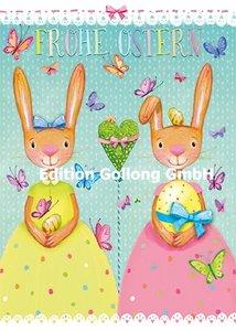 Mila Marquis Postcard | Frohe Ostern (Zwei Hasen)