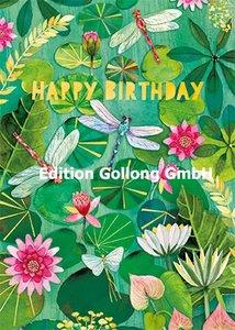Mila Marquis Postcard | Happy Birthday (Libellen)