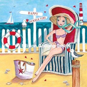 Cartita Design Postcard | Woman in beach chair