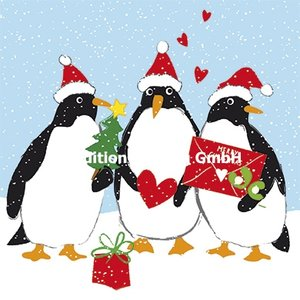 Carola Pabst Postcard Christmas | Penguins