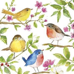 Carola Pabst Postcard | Birds on branches