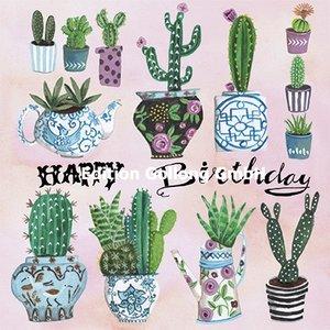 Cartita Design Postcard   Happy Birthday (Cactus)