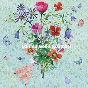 Mila Marquis Postcard | Happy birthday (Elf with flowers)