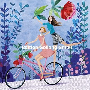 Mila Marquis Postcard   Women on bicycle