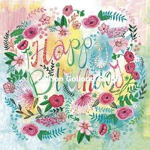 Cartita Design Postcard | Happy Birthday (flowers)