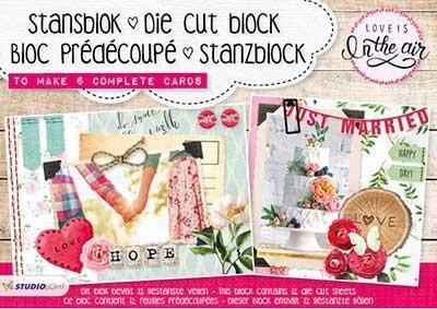 Studio Light A5 Die Cut Block | Love is in the air