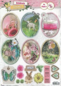 Studio Light Easy 3D Die-cut sheet A4 | Celebrate spring