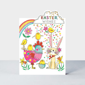 Rachel Ellen Designs Cards - Cherry on Top - Easter Wishes/Bunny, Chicken & Chicks