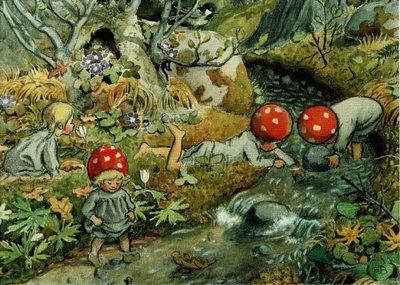 Elsa Beskow Postcard | Tomtebobarnen