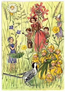 Elsa Beskow Postcard | Blomsterboda