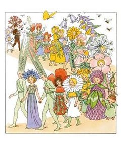 Elsa Beskow Postcard | Blomsterfesten i täppan
