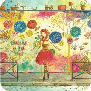 Jehanne Weyman Postcard | Dancing in the Rain