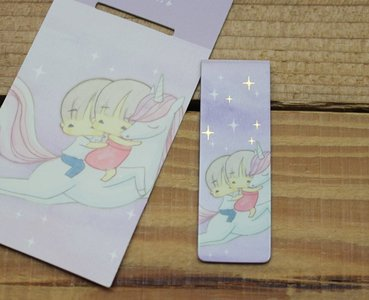 Amy and Tim Collection Magnetic Bookmark (Unicorn)