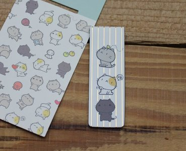 Cat Cat Collection Magnetic Bookmark