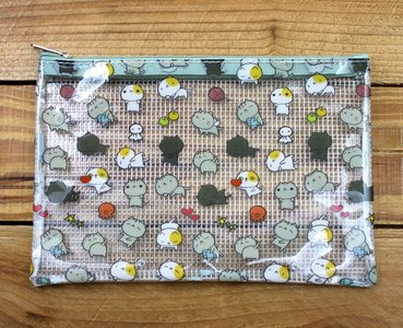 Cat Cat Clear Zipper Bag (A6)