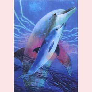 Postcard Loes Botman | Dolfijn met jong